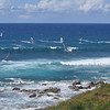 The view of Ho'okipa Bay, a super popular surf spot in East Maui