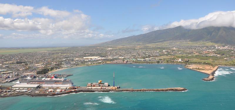Kahului Harbor in Central Maui