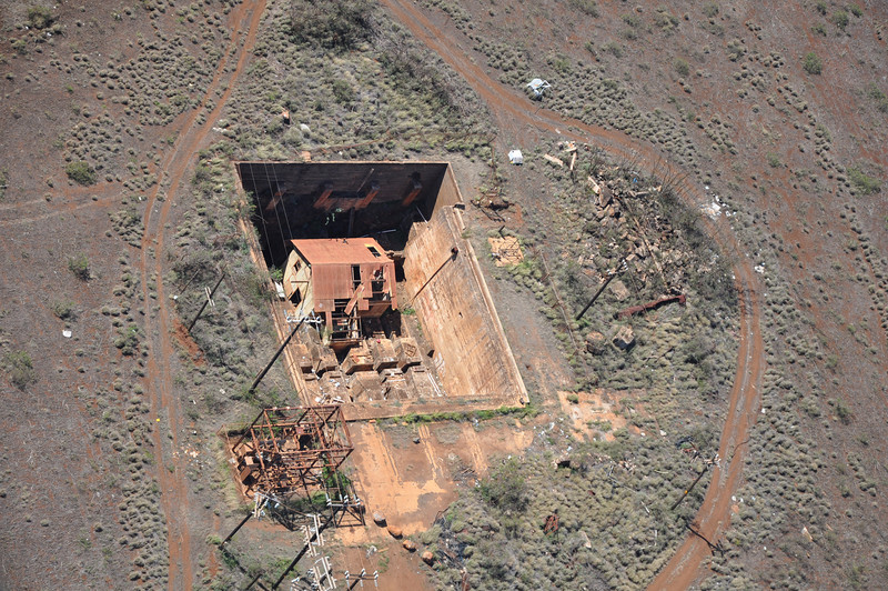 This was some odd placewe saw from the helicopter, a house in the ground?