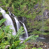 One of the better falls we found, right off the road, called Waikani Falls, aka 3 Bears.