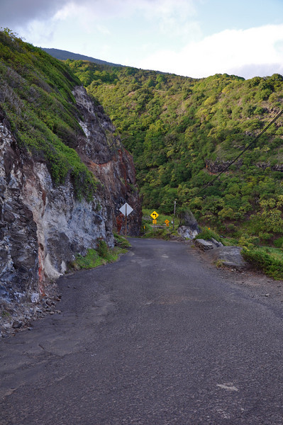 Steep cliffs and barely enough room for one car