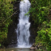 The first waterfall of Na'ili'ili-haele Falls.