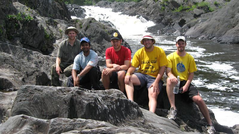 The group at Allagash Falls