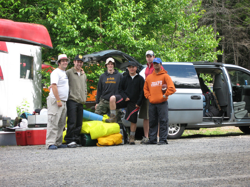 Arriving at the Katahdin Outfitters, to get our ride into the woods.