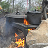 Each camp site had well made fire bits and grill tops for our cast iron pans