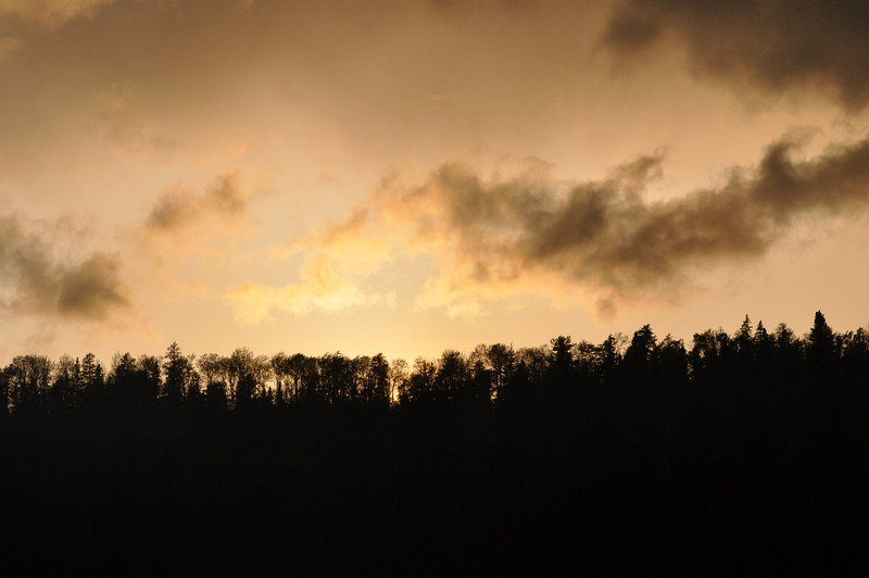 Storms were rolling through all evening making for a very colorful sky, that also blew away our tarps about 3 times.
