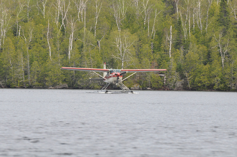 This plane was the only thing we saw on the lake in the northern boundary waters, two park rangers