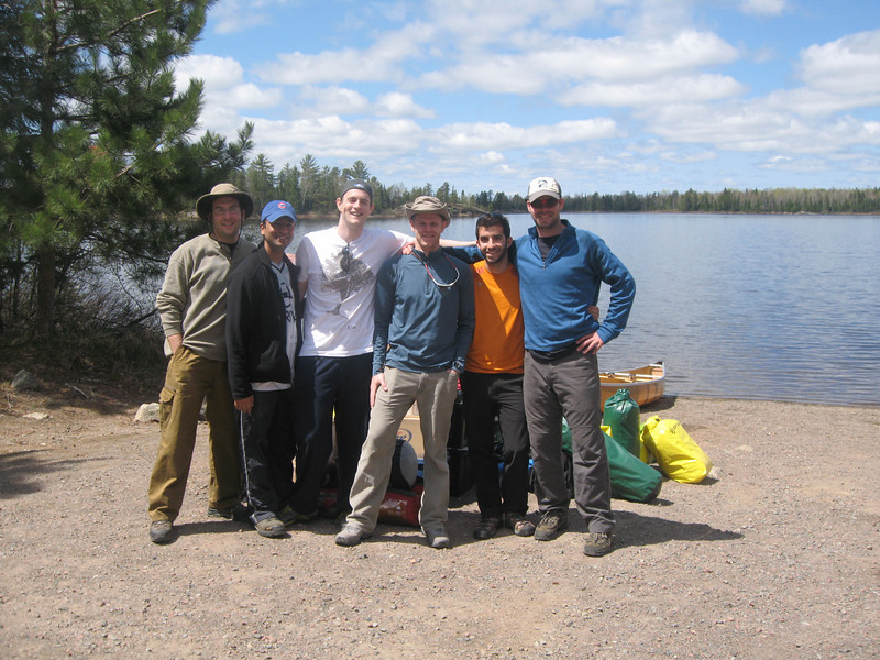 The last day, after a 3 hour detour into the marsh lands and 180 rods of portages, we made it to the take out point.