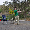 After collecting a couple beers and some dog toy balls, we played stick ball all afternoon