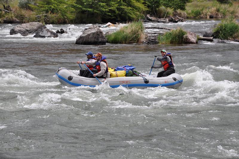 Through a couple more Class II rapids