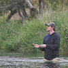 Ryan trying some fly fishing