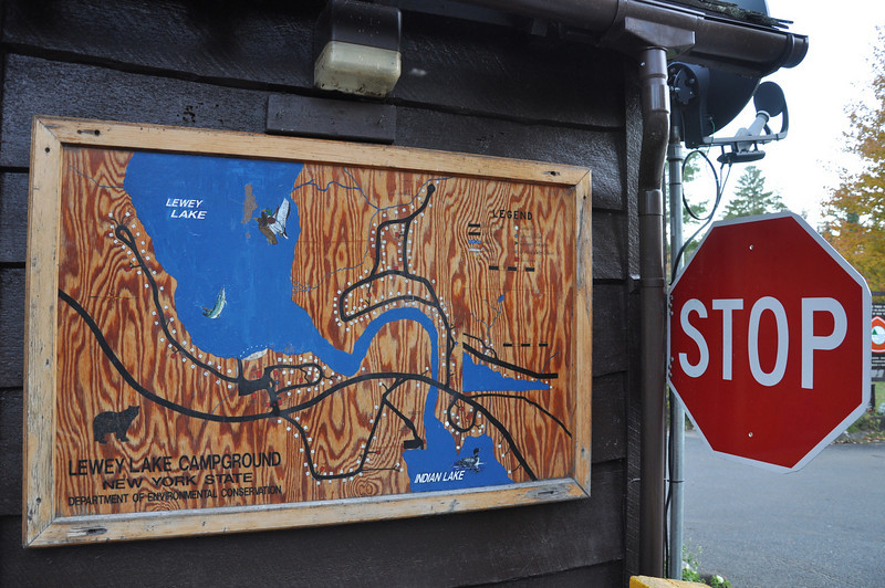 The Lewey Lake campground map