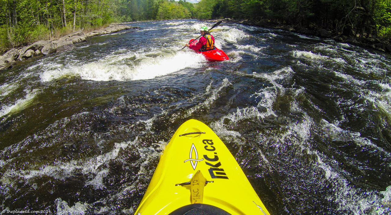 Whitewater Kayaking on the Madawaska River.