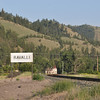 This was on the way back to Missoula from the Bison Range, the  metal railway signed looked cool.