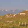 The Bison area with the mountains to the North West of the range