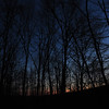 The sunset from in the valley around the Hermitage cabin