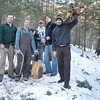 Matt (spatula), Dave (saw), Greg (ax), Porter (saw) Ry (little twig & dress shoes?), Jeremy (log)