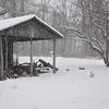 We woke up Saturday morning to fairly heavy snowfall.