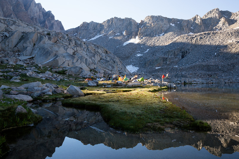 Sun-Drying Tents at Dusy Basin (July 2018)