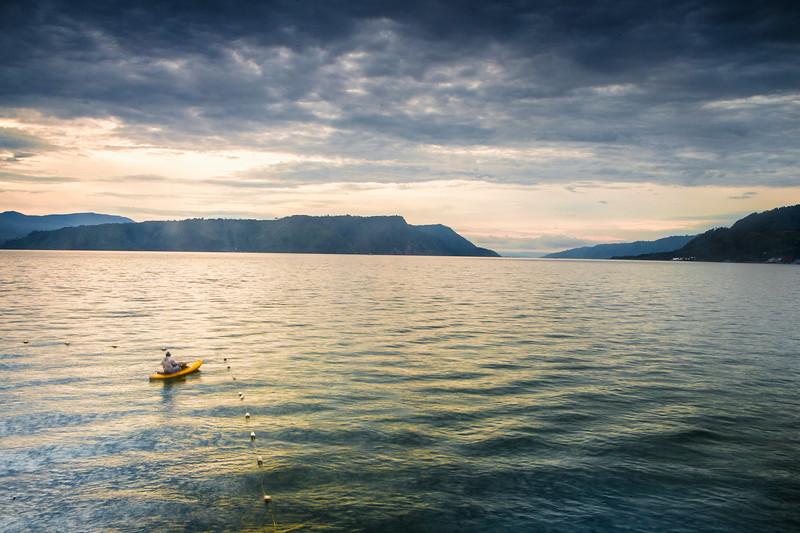 Sea Kayaking on Lake Toba, Sumatra