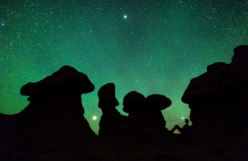 Airglow at Goblin Valley State Park