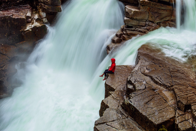 Mirae Campbell at Lower Falls in British Columbia