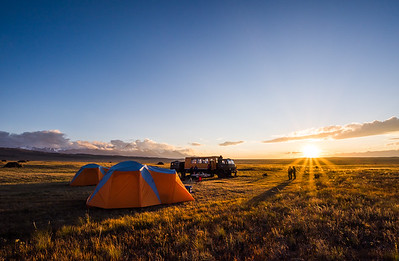 Approach camp, Zaalay range, Pamir, Kyrgyzstan