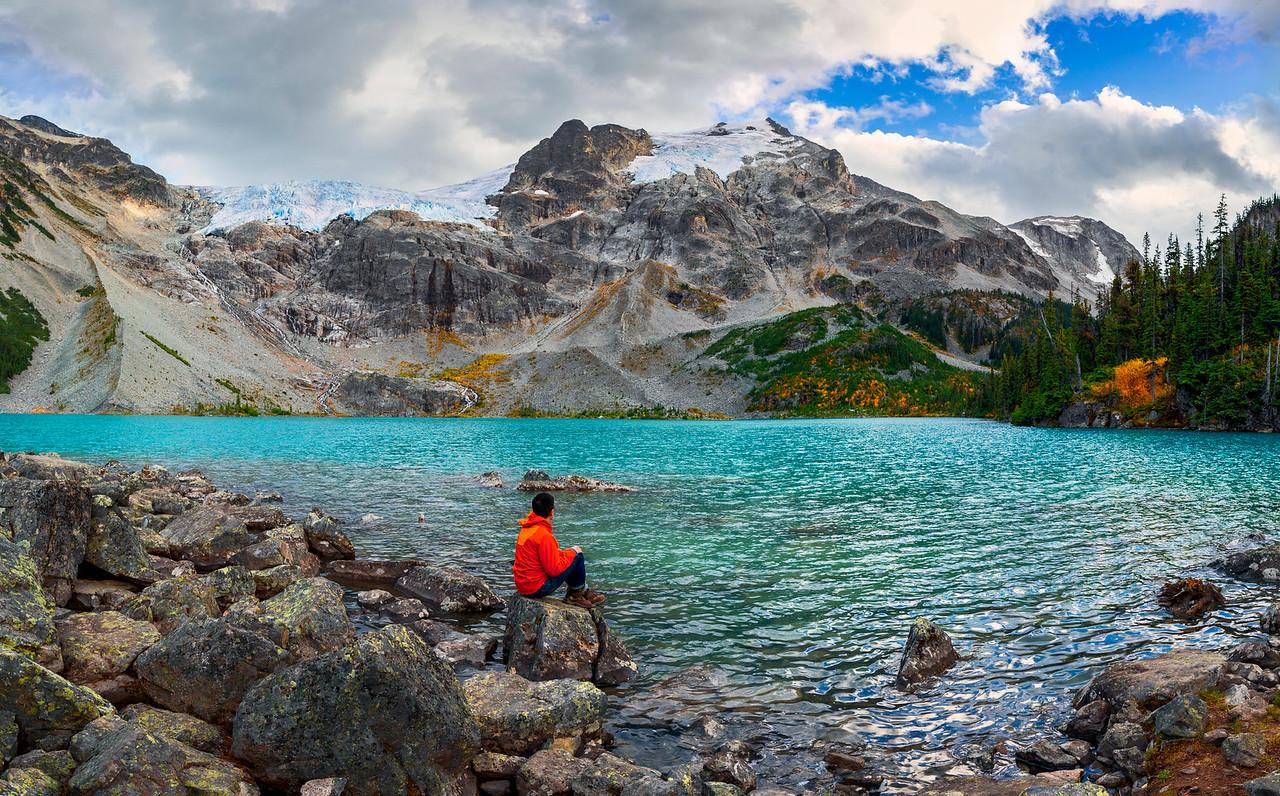 Dan Lum at Joffre Lakes, British Columbia
