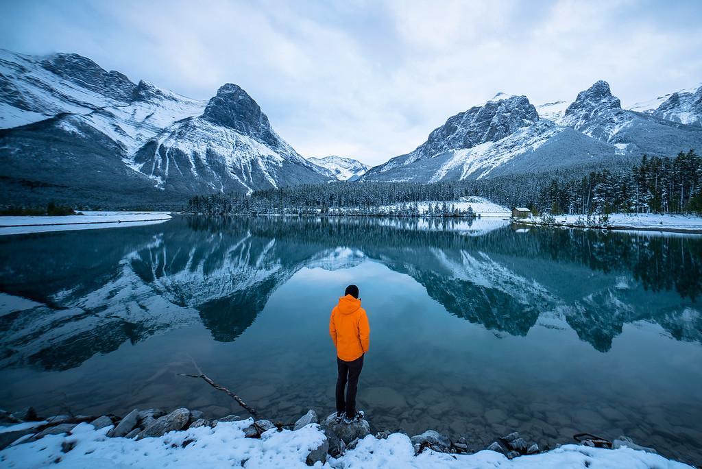 Snowy Alberta Lake