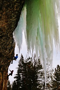 Hangin' Tough,  Hyalite Canyon,  MT