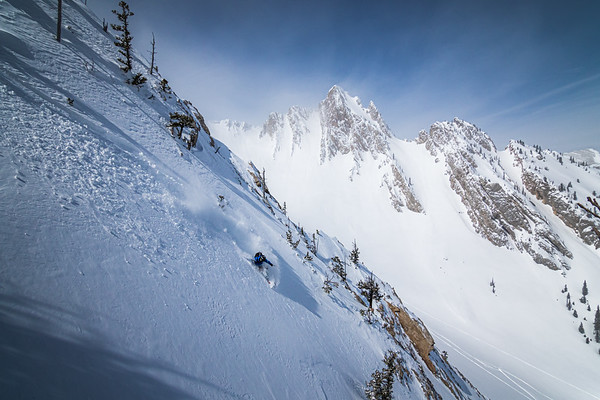 Skier: Sam Schwartz. Location: Northern Bridgers, Montana.