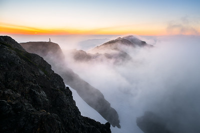 Lizzy Gadd On A Foggy Ridge