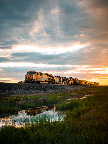 montana-train-at-sunset