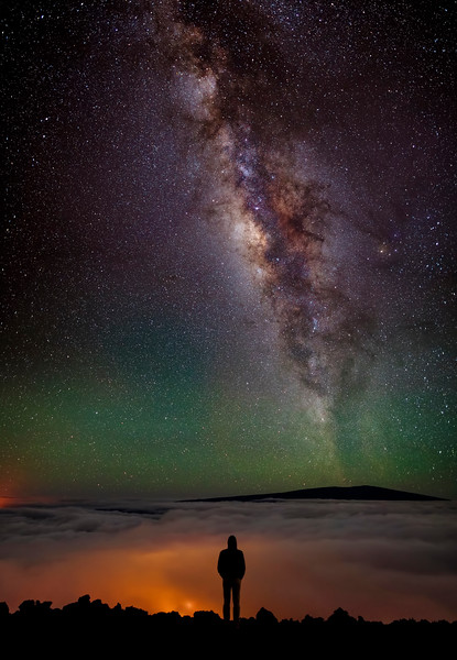 Enjoying the Night Sky from Mauna Kea