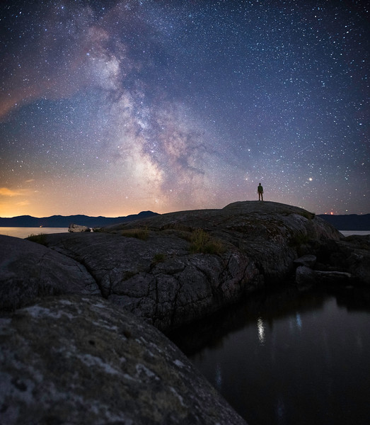 Night Sky Around Powell River, British Columbia