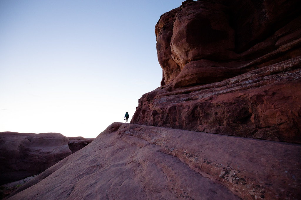 Twilight while hiking to Delicate Arches (May 2016)