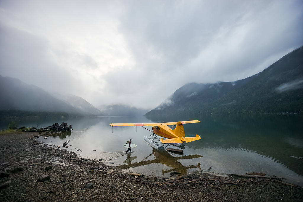 Float Plane on Lake Cushman, Washington