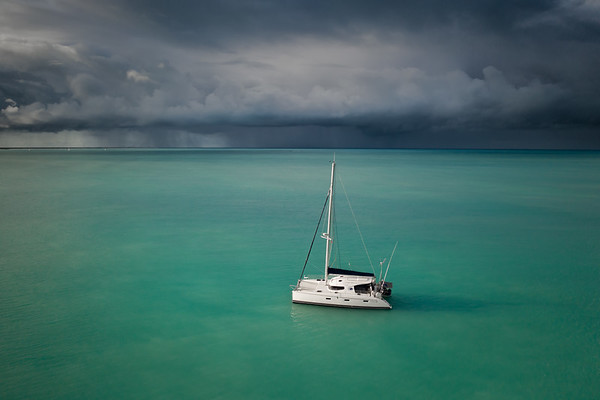 SV Cirrus in Barbuda Squall
