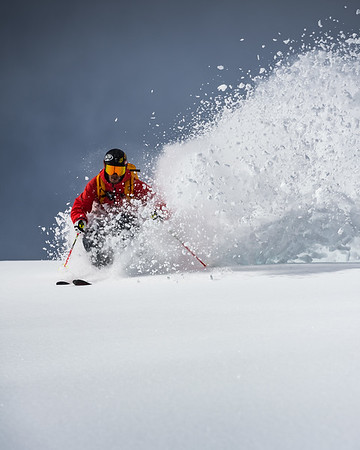 Late season storms can bring some of the best snow. Adam Ü was no slouch in getting amongst the fresh snowfall.