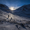 Athabasca Glacier Sunset