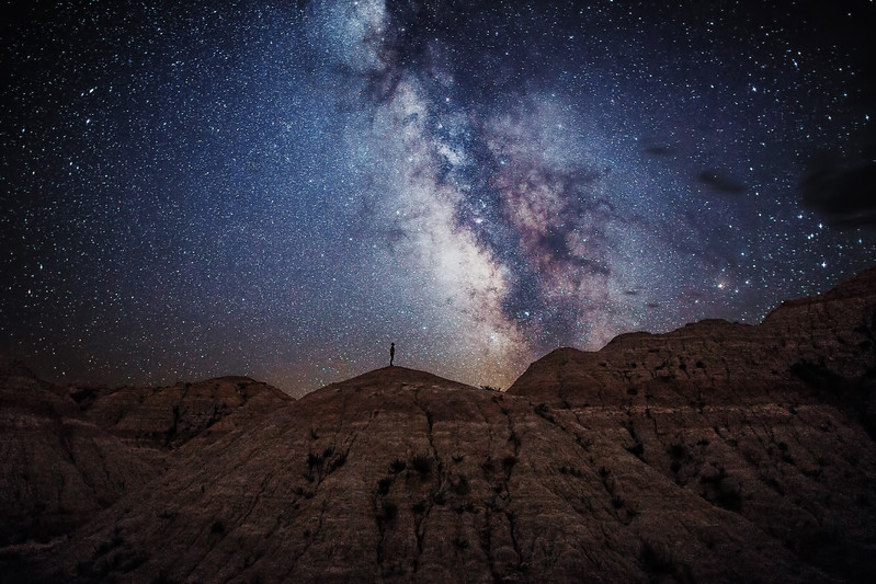 Under the Milky Way in the Badlands
