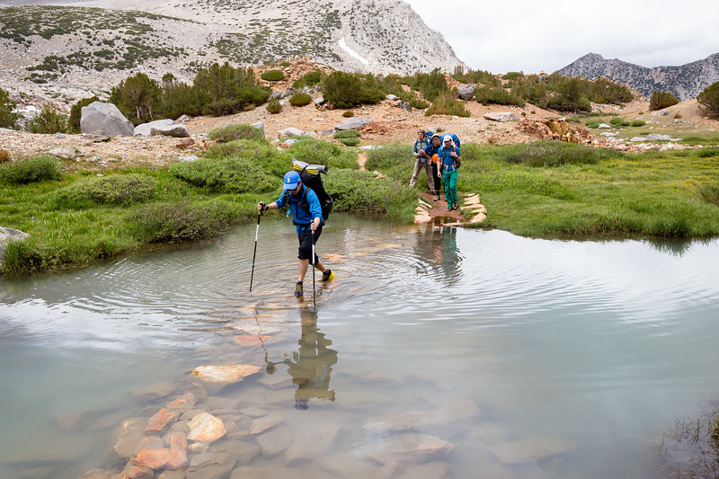 Creek Crossing near Bishop Pass (July 2018)