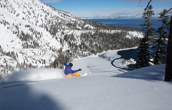 Dropping in Above Emerald Bay