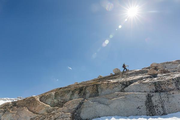 Climbing Under the Warm Afternoon Sun