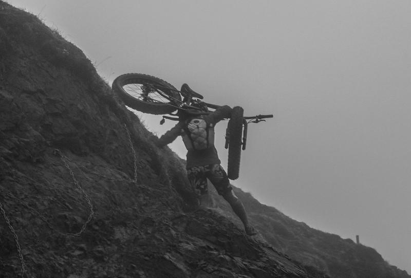 Bike Carry through Fog, Darkness, and Rain