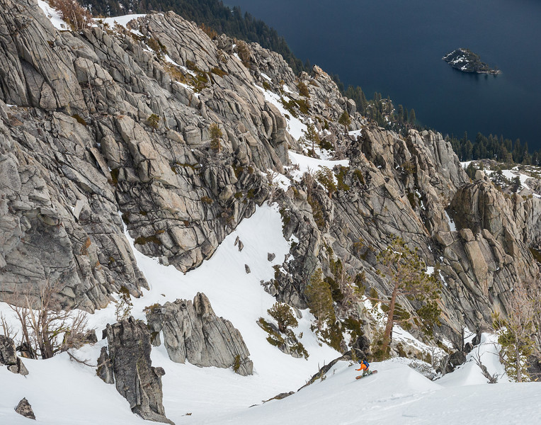 Toe Side Turn Above Fannette Island