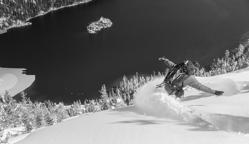 Deep Powder Drop-in Above Fannette Island