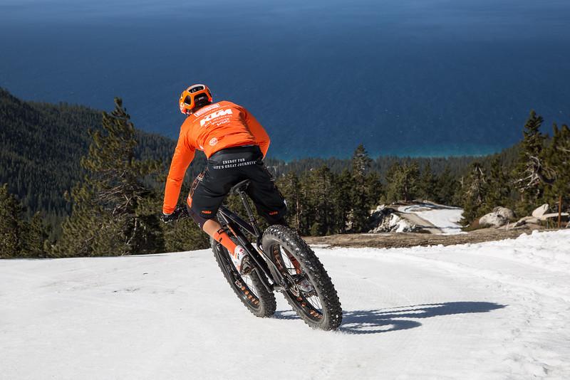 Fat Bike Turns Above the Lake