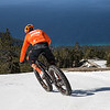 Fat Bike Turns Above the Lake