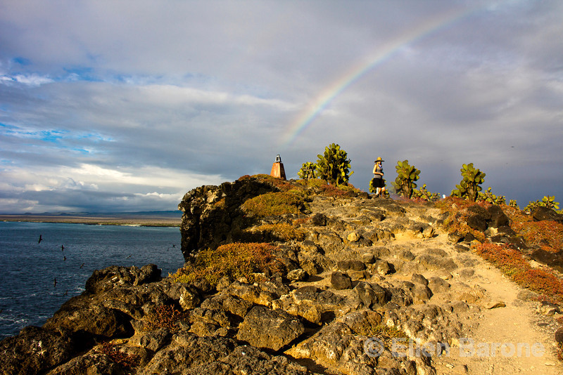 Rainbow, South Plaza Island, Galapagos Islands, Ecuador.